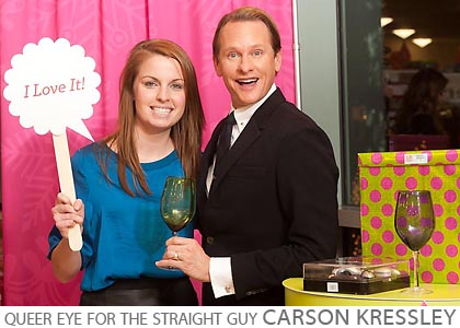 Carson Kressley editor event, Home Goods Chicago, celebrity bloggers, celebrity step and repeat photo, Leap Starr