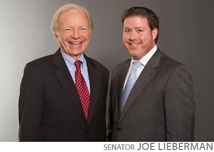 political fundraiser book signing senator joe lieberman