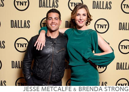 Step and Repeat celebrity event Desparate Housewives Jesse Metcalfe Brenda Strong TNT Dallas Reboot