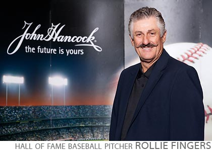 celebrity appearance step and repeat baseball hall of fame pithcer rollie fingers