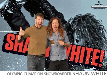 Burton Snowboard in store appearance Shaun White x games olympic gold medal champion