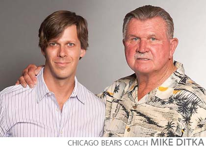 Chicago Bears coach Mike Ditka celebrity step repeat