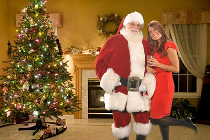photos with santa claus, company holiday party photo activity, Green Screen Photography