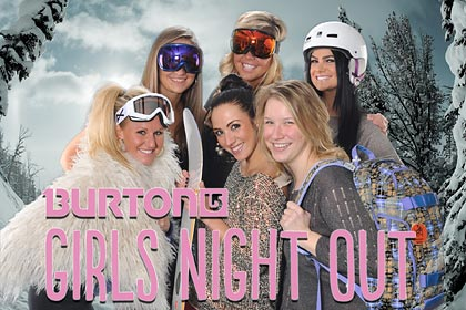 burton snowboards girls night out chicago 2011, Green Screen Photography