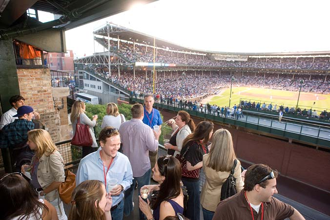 Chicago Interactive Marketing Association at Cubs Rooftop event photography by FAB PHOTO