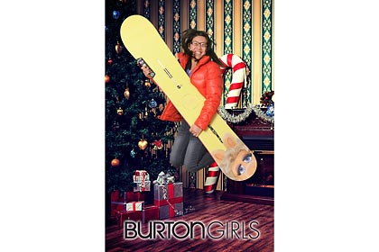 burton snowboards girls night out event 2012, chicago store, greens screen, printing photo onsite