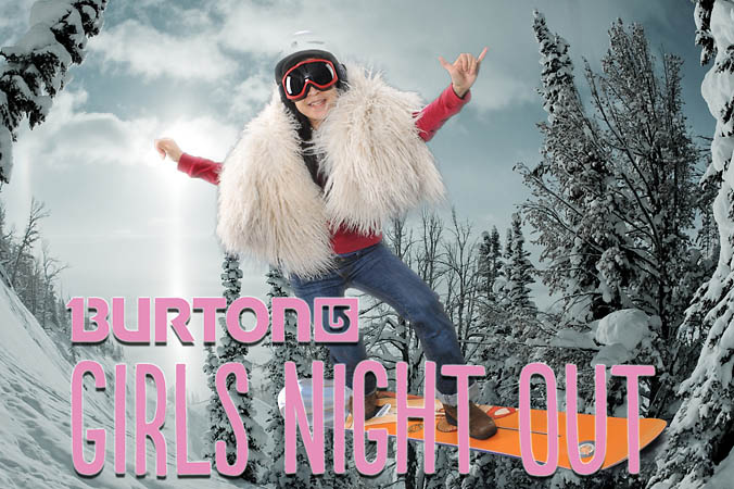 Burton Snowboards girls night out Chicago 2012 green screen onsite printing by FAB PHOTO