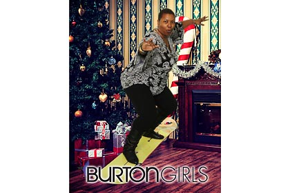 Burton Snowboards 2012 Girls NIght Out Chicago store, green screen, photo print onsite