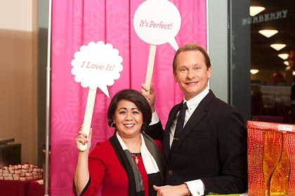 Carson Kressley, Home Good blogger editors event, Chicag Michigan Avenue store 2012, onsite printing