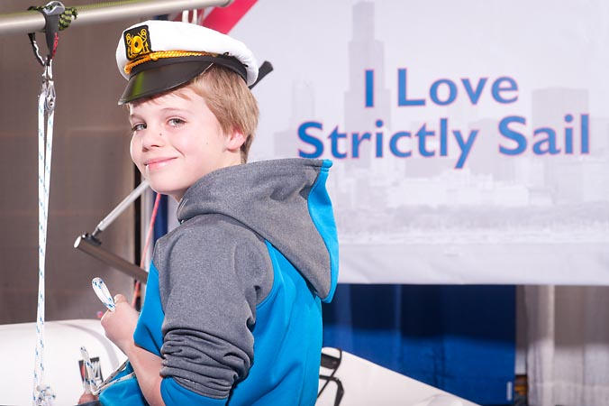 strictly sail chicago trade show navy pier, instant social media picture by fab photo chicago
