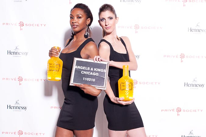 Prive Society, Hard Rock Hotel Chicago, Angels and Kings, Hennessy, step and repeat photo, beautiful models