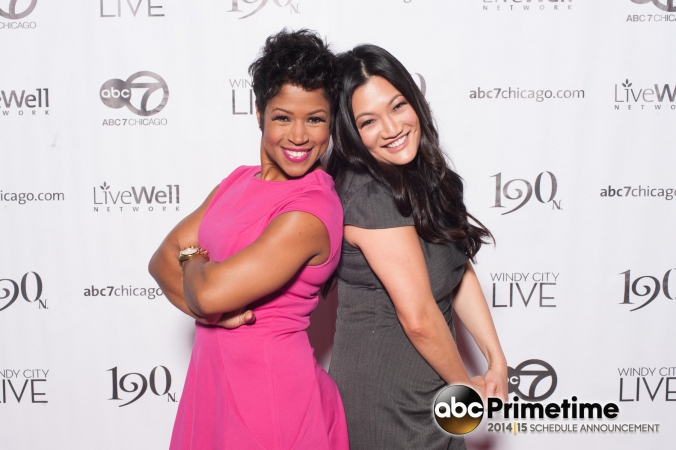abc7 windy city live stars val warner, ji suk yi, make celebrity appearance on the step and repeat