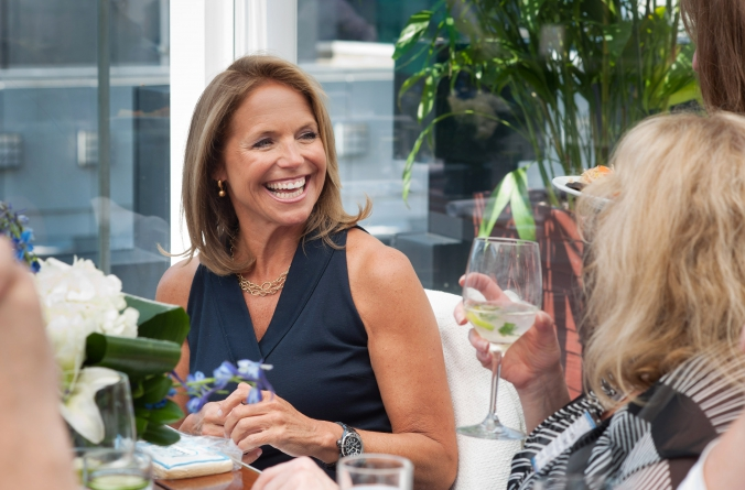 celebrity news anchor katie couric attends private rooftop event, abc7 chicago, wit hotel