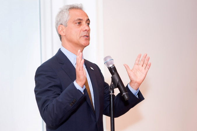 rahm emanuel speaks at private corporate event chicago art institute, photography by fab photo