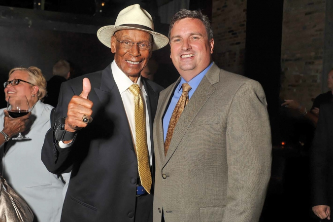 mr cub ernie banks makes celebrity sports appearance at abc7 chicago corporate event, photography by fab photo