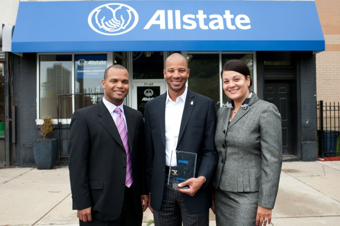 Award photo, Allstate.