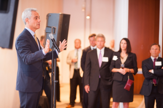 Event photography, private event with mayor rahm emmanuel, chicago, art instititue, grant thornton