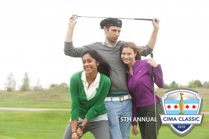 super model golfers pose for free golf photo printed on location, CIMA classic, annual golf event, harborside golf course