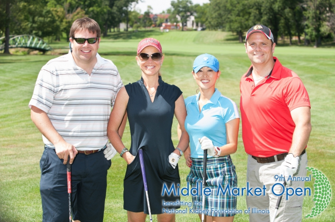 classic group golf photo printed at the course, middle market open, nkfi annual golf fundraising event, Olympia Fields Country Club