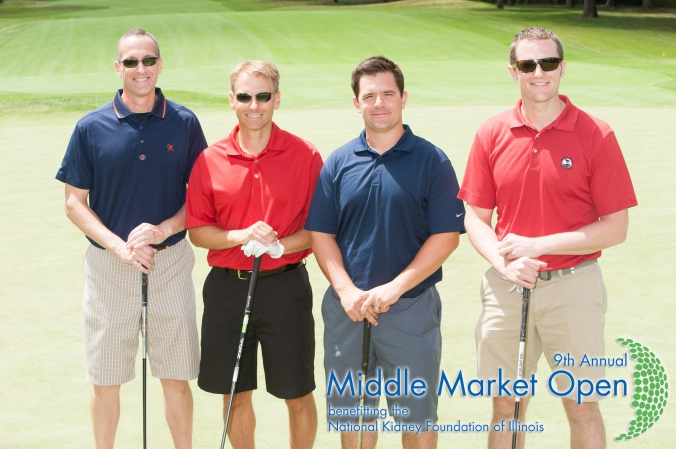 group photo, printed onsite, middle market open, golf fundraising event for national kidney foundation illinois, Olympia Fields Country Club