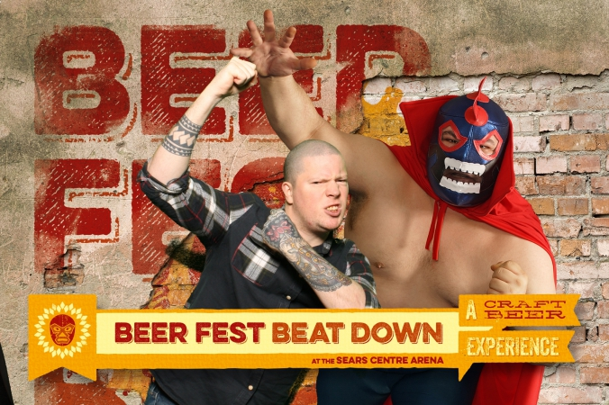 Beef fest beat down at Sears Center Arena, green screen photobooth, animated gifs, onsite printing, fab photo chicago.