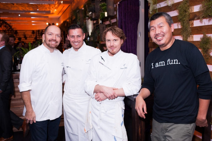 chicago celebrity chefs Giuseppe Tentori, curtis Duffy, Grant Achatz, Bill kim at kirkland ellis private corporate event, photography by fab photo chicago