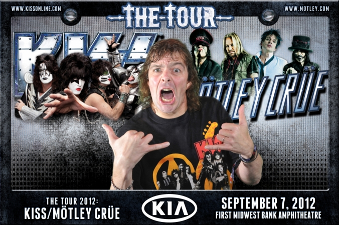 kia sponsored green screen photo activity for the tour 2012: kiss / motley crue, first midwest bank amphiteatre