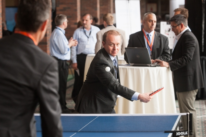 no joke ping pong game during lunch break at the terrapin conference, sterllar event photography by fab photo