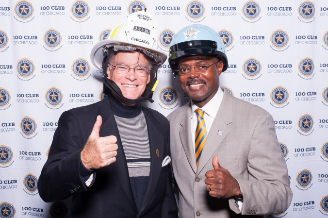 step repeat photobooth 100 club annual fundraiser fire fighter police onsite printing