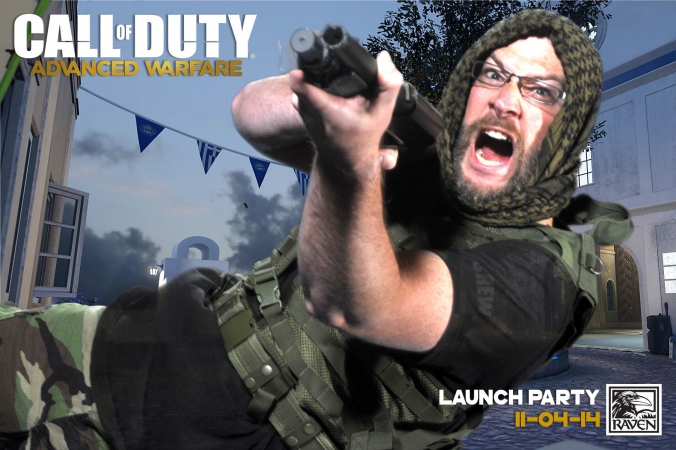 call of duty, advanced warfare launch party, green screen photo souvenir printed onsite, fab photo chicago