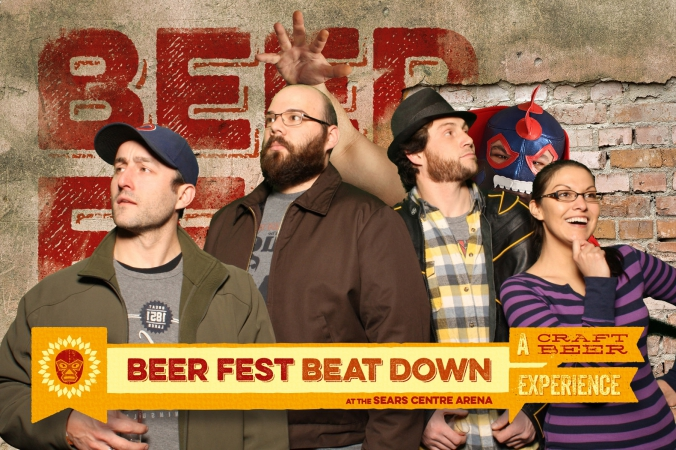 beer fest beat down, photo booth souvenirs, green screen photo printed on-site