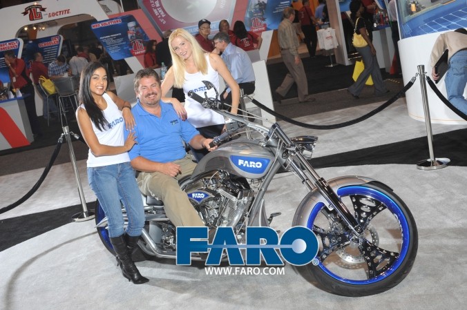 FARO orange county chopper by Paul Jr at Quality Expo Chicago McCormick Place September 20 to 22, onsite printing by FAB PHOTO
