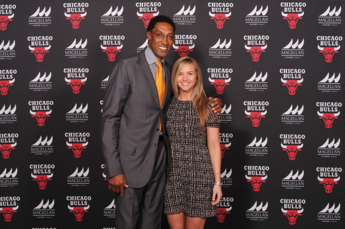 stop and go celebrity appearance by nba chicago bulls scottie pippen, sponsor event 2014, 8x10 onsite photo printing