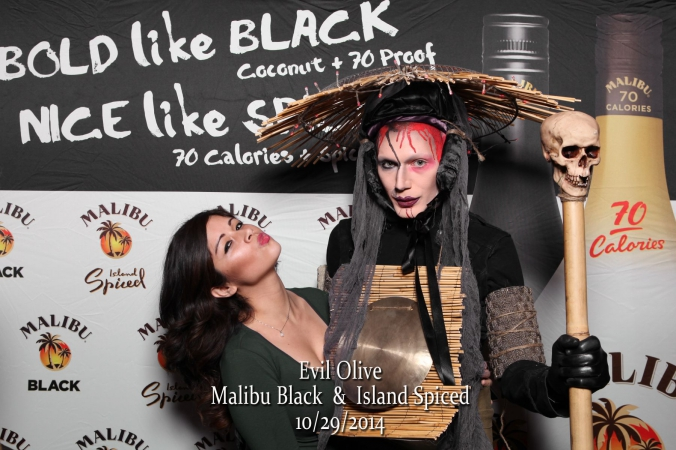 corporate event photography for malibu black rum with onsite printing