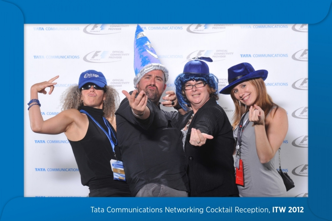 guests wear silly props at tata communications step repeat photo booth, navy pier, grand ballroom, chicago